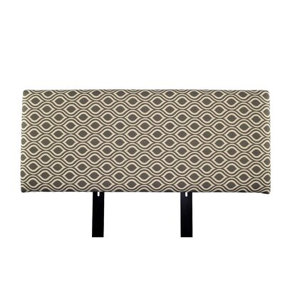 Alice Nicole Upholstered Panel Headboard Size: King, Upholstery: Brown/Gray