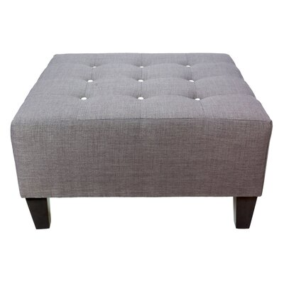 Max Cocktail Ottoman Detail: White, Upholstery: Gray-Red