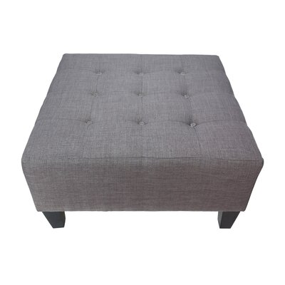 Max Cocktail Ottoman Detail: Charcoal, Upholstery: Gray-Red