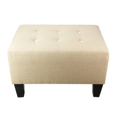 Max Ottoman Detail: White, Upholstery: Beige