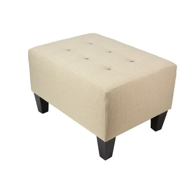 Max Ottoman Detail: Charcoal, Upholstery: Beige