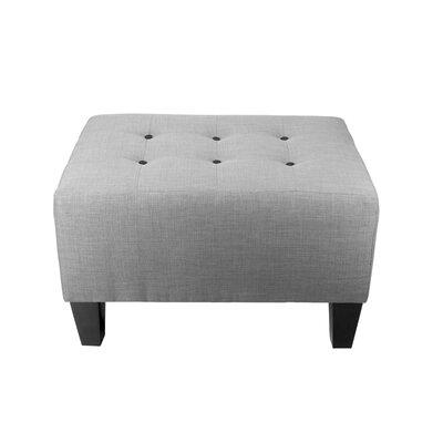 Max Ottoman Detail: Black, Upholstery: Gray