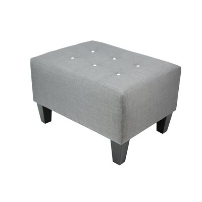Max Ottoman Detail: White, Upholstery: Gray