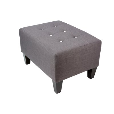 Max Ottoman Detail: White, Upholstery: Gray-Red