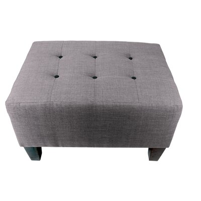 Max Ottoman Detail: Black, Upholstery: Gray-Red