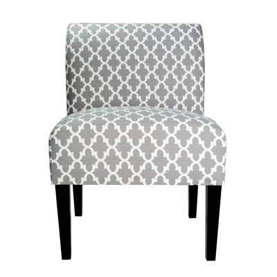 Samantha Slipper Chair Upholstery: Gray