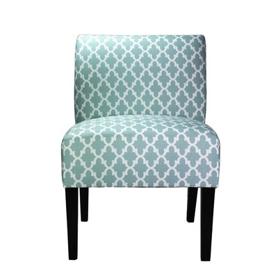 Samantha Slipper Chair Upholstery: Blue