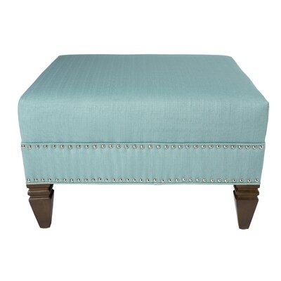 Kara Upholstered Ottoman Upholstery: Blue