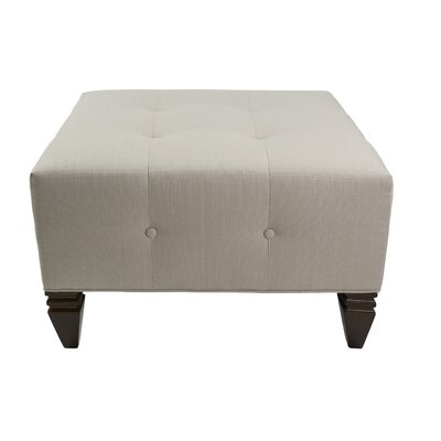 Hobson Upholstered Square Ottoman Upholstery: Mouse