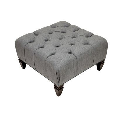 Germaine Upholstered Diamond Tufted Ottoman Upholstery: Metal