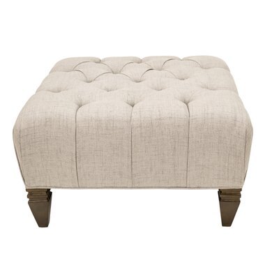 Germaine Upholstered Diamond Tufted Ottoman Upholstery: Cafe