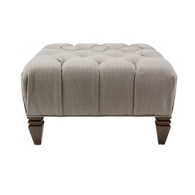 Holtby Upholstered Diamond Ottoman Upholstery: Dolphin