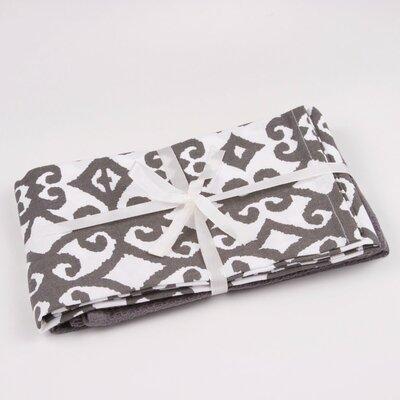 Hayden Printed Hand Towel Color: Gray / White