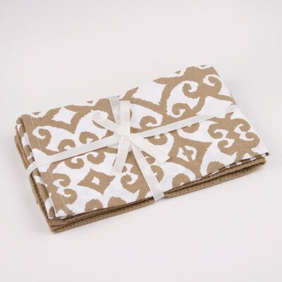 Hayden Printed Hand Towel Color: Taupe / White