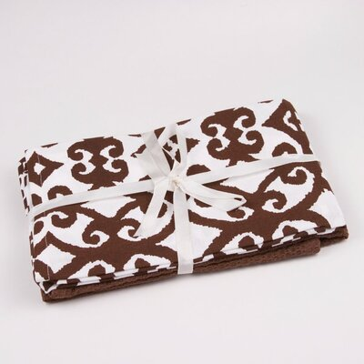 Hayden Printed Hand Towel Color: Brown / White