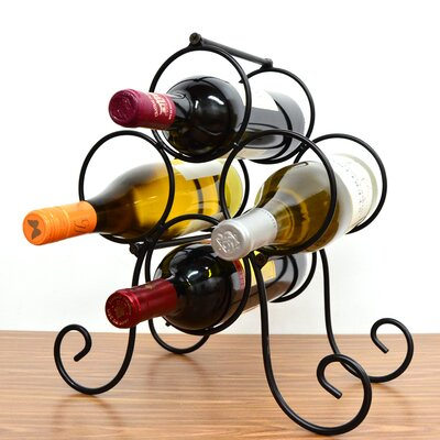 Roma 4 Bottle Tabletop Wine Rack