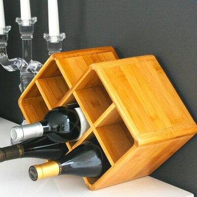 Firenze 7 Bottle Tabletop Wine Rack Finish: Natural