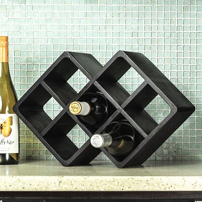 Firenze 7 Bottle Tabletop Wine Rack Finish: Black