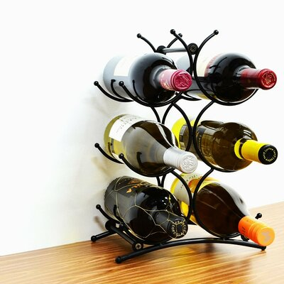 Turin 6 Bottle Tabletop Wine Rack