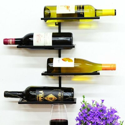 Pisa 4 Bottle Wall Mounted Wine Rack