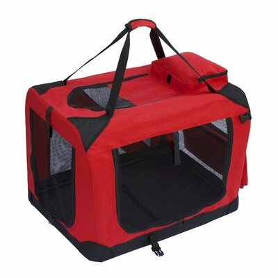 Pet Carrier Size: 20 H x 27.5 W x 20 D, Color: Red