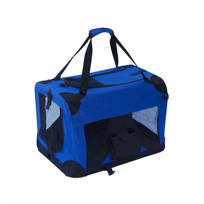 "Pet Carrier Size: 14"" H x 19"" W x 13.5"" D, Color: Red PCRED01S"