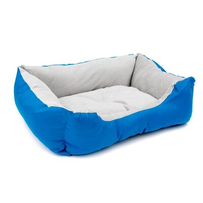 Soft Plush Pet Cushion Bolster Color: Blue