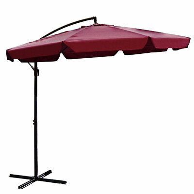 Image of 10' Cantilever Umbrella Color: Burgundy