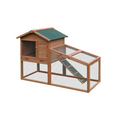 Wooden Pet House Chicken Coop with Chicken Run