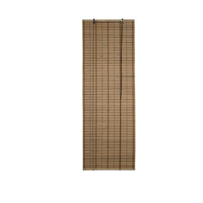 Bamboo Midollino Brown Outdoor Roll-Up Shade Blind Size: 23 W x 64 L