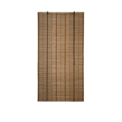 Bamboo Midollino Brown Outdoor Roll-Up Shade Blind Size: 36 W x 64 L