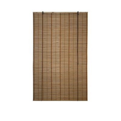Bamboo Midollino Brown Outdoor Roll-Up Shade Blind Size: 39 W x 64 L