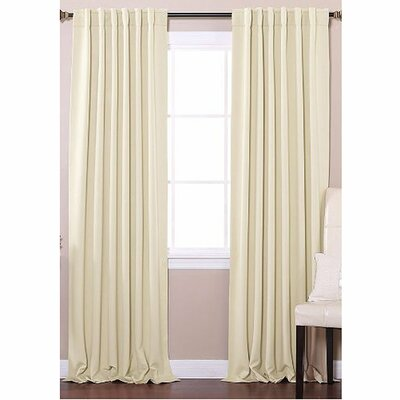 Insulated Blackout Thermal Curtain Panels Color: Beige