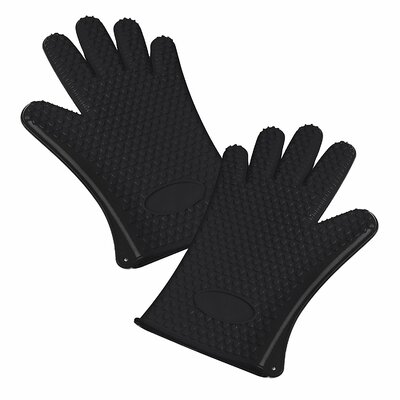 Silicone Heat Resistant Waterproof Gloves Color: Black 2SG01BK