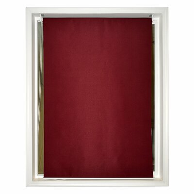 Windscreen Semi-Sheer Burgundy Roll-Up Shade