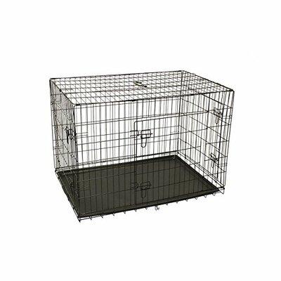 Menzel 3 Doors Folding Suitcase Pet Crate Size: 30 H x 28 W x 42 L