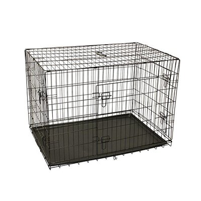 3 Doors Folding Suitcase Pet Crate Size: 32 H x 30 W x 48 L