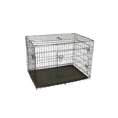 3 Doors Folding Suitcase Pet Crate Size: 20 H x 18 W x 24 L