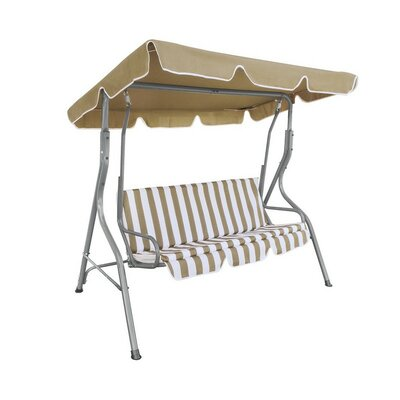 Outdoor Canopy Porch Swing Cushion/Canopy Fabric: Beige