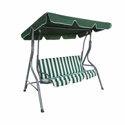 Outdoor Canopy Porch Swing Cushion/Canopy Fabric: Green