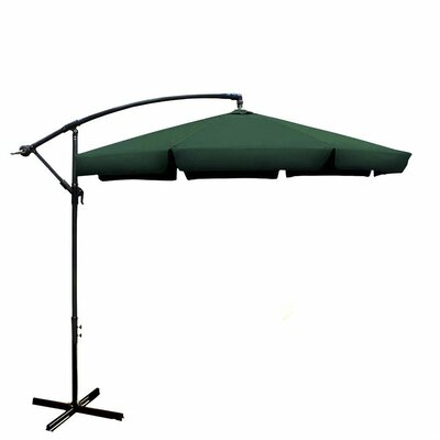 Image of 10' Cantilever Umbrella Color: Green