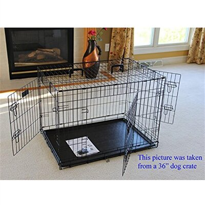 Mendez 2 Doors Folding Suitcase Pet Crate Size: 30 H x 27 W x 42 L