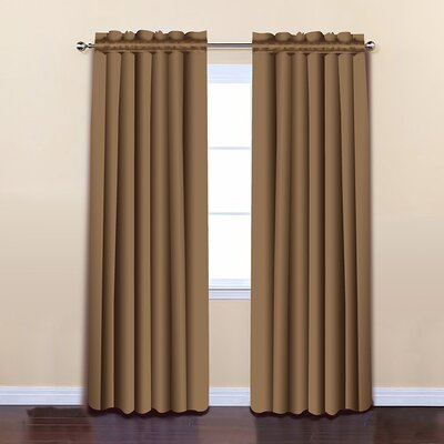 Insulated Blackout Thermal Curtain Panels Color: Wheat