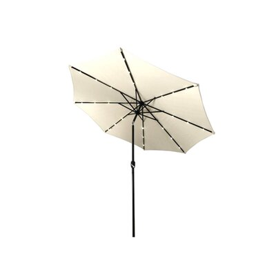 Emig 10 Solar Powered LED Lighted Tilting Drape Umbrella Color: Beige