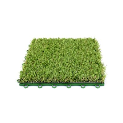 Indoor/Outdoor Artificial Grass 12 x 12 Plastic Deck Tile in Green