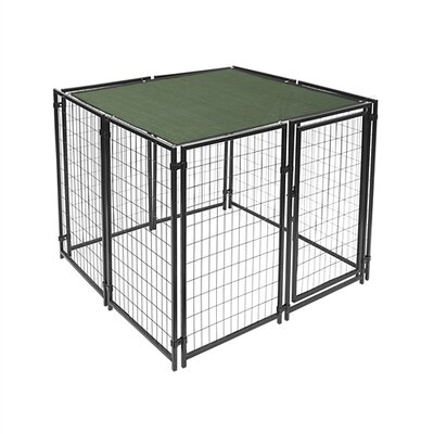Mercier Dog Kennel Shade Cover with Aluminum Grommets Color: Green, Size: 60 H x 180 W x 0.25 D