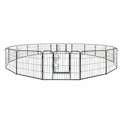 Meredith Heavy Duty 16 Panel Pet Pen Size: 32H x 512 W x 0.75 D