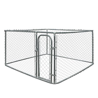 DIY Chain Link Dog Yard Kennel Size: 72 H x 90 W x 156 D