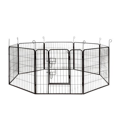 Heavy Duty 8 Panel Pet Pen Size: 24 H x 256 W x 0.75 D