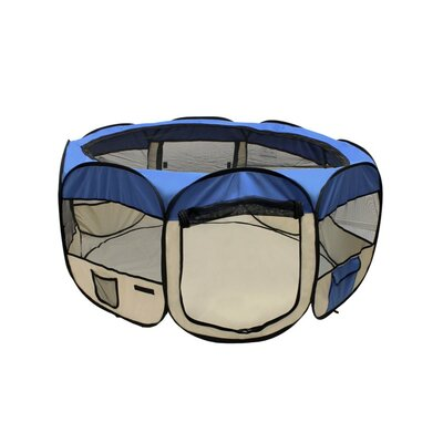 Merriam Octagon Pet Pen Size: 24 H x 45 W x 45 D, Color: Blue